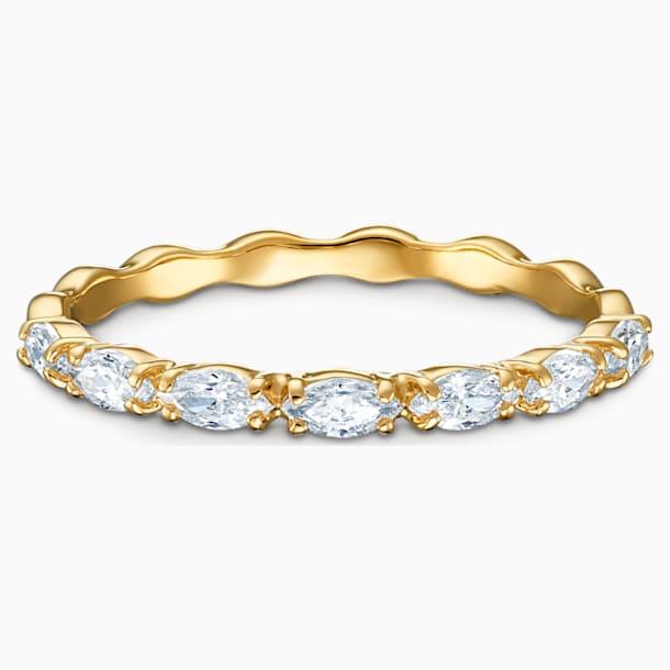 Vittore Marquise 戒指, 白色, 镀金色调 - Swarovski, 5535359