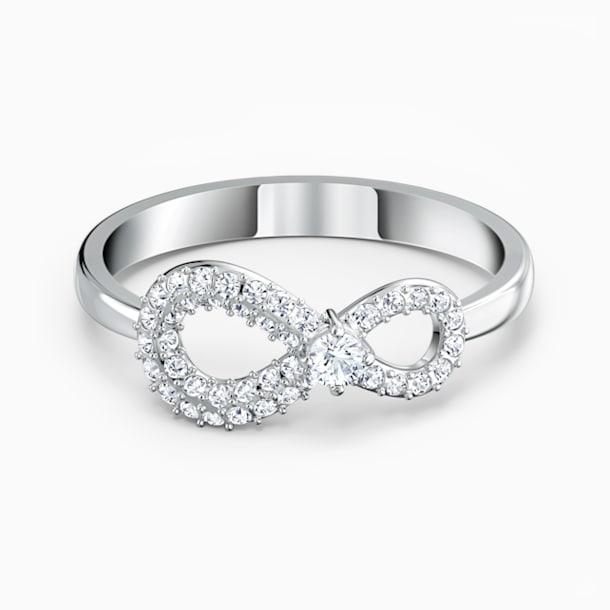Prsten Swarovski Infinity, bílý, rhodiovaný - Swarovski, 5535410