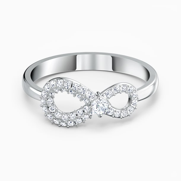 Swarovski Infinity gyűrű, fehér, ródium bevonattal - Swarovski, 5535410