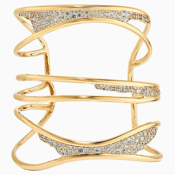 Gilded Treasures Bangle, White, Gold-tone plated - Swarovski, 5535418