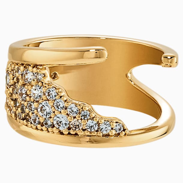 Gilded Treasures Ring, White, Gold-tone plated - Swarovski, 5535428