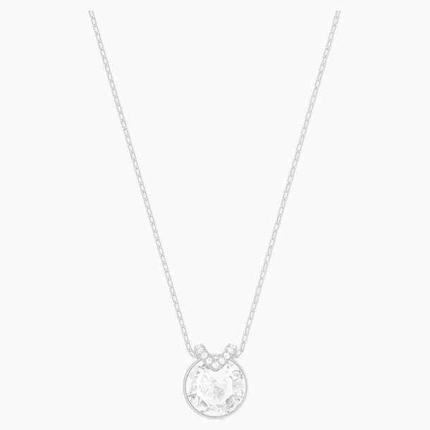 Bella V 链坠, 白色, 镀铑 - Swarovski, 5535526
