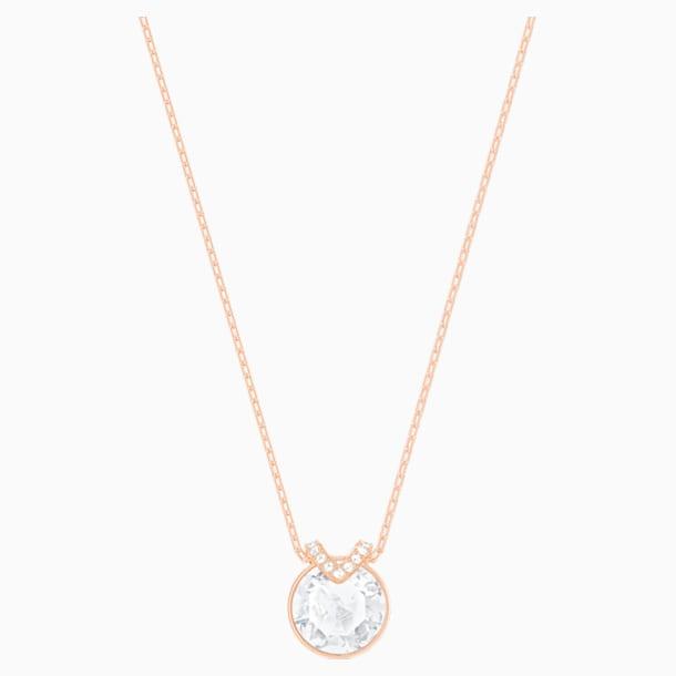 Bella V 鏈墜, 白色, 鍍玫瑰金色調 - Swarovski, 5535528
