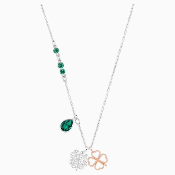 Swarovski Symbolic Clover Pendant, Green, Mixed metal finish - Swarovski, 5535554