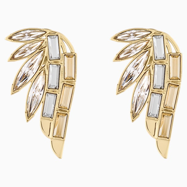 Wonder Woman Ear Cuff, White, Gold-tone plated - Swarovski, 5535585