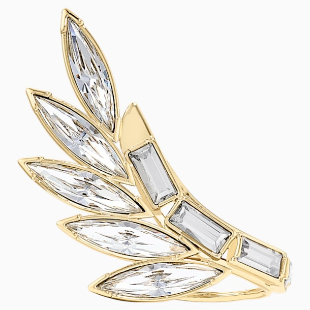 Wonder Woman Armour Ring, White, Gold-tone plated - Swarovski, 5535587