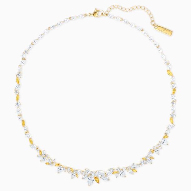 Collana Botanical, bianco, placcato color oro - Swarovski, 5535775