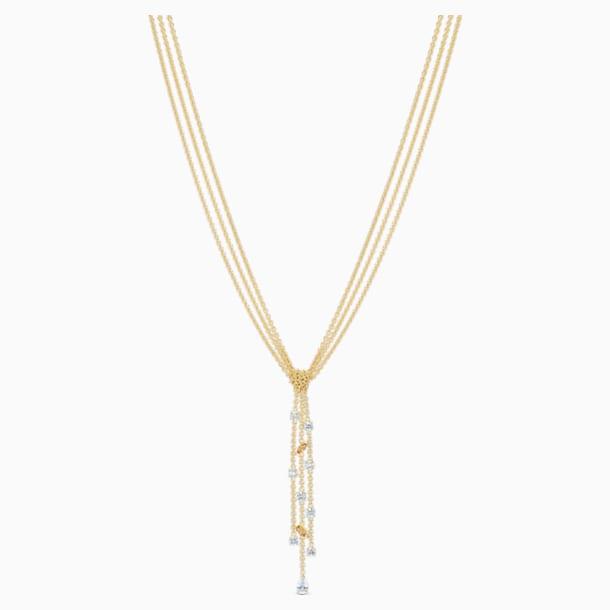 Collier en Y Botanical, blanc, métal doré - Swarovski, 5535779