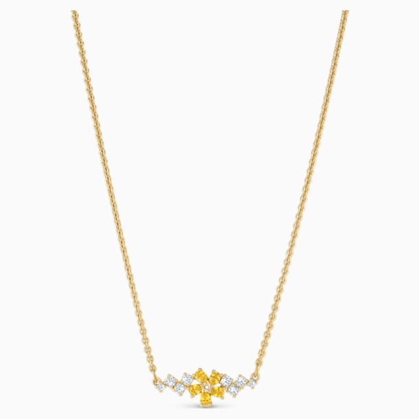 Botanical Necklace, Yellow, Gold-tone plated - Swarovski, 5535781