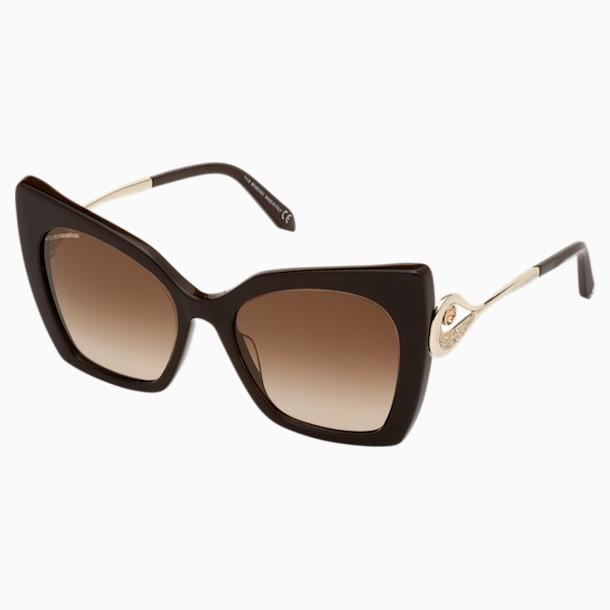 Okulary przeciwsłoneczne Tigris, SK0271-P 48G, brązowe - Swarovski, 5535794