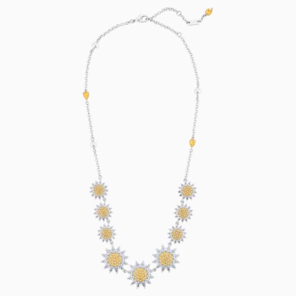 Collier Botanical, jaune, métal rhodié - Swarovski, 5535874