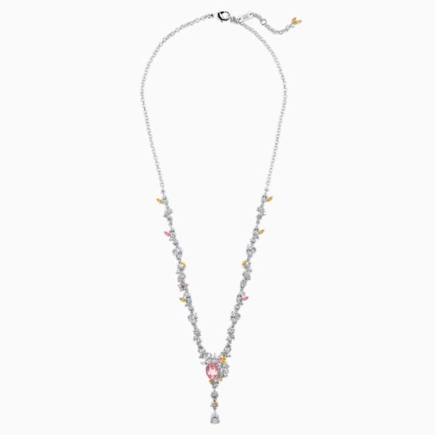 Botanical nyaklánc, világos, többszínű, ródium bevonattal - Swarovski, 5535875