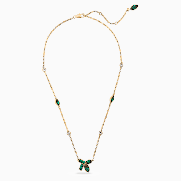 Collana Beautiful Earth by Susan Rockefeller, verde, placcato color oro - Swarovski, 5535891