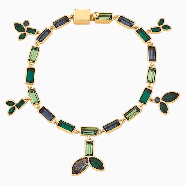 Łańcuszek z bambusem, ciemny wielokolorowy, w odcieniu złota - Swarovski, 5535894
