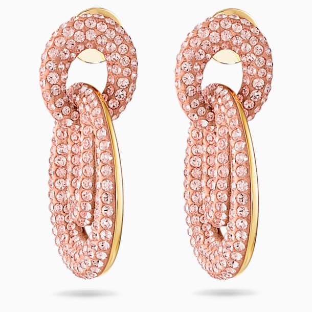 Boucles d'oreilles Tigris, rose, métal doré - Swarovski, 5535908