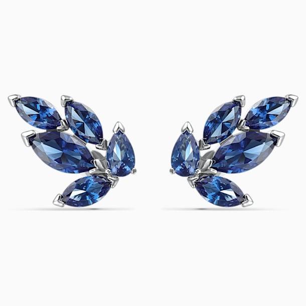 Kolczyki sztyftowe Louison, niebieskie, powlekane rodem - Swarovski, 5536549