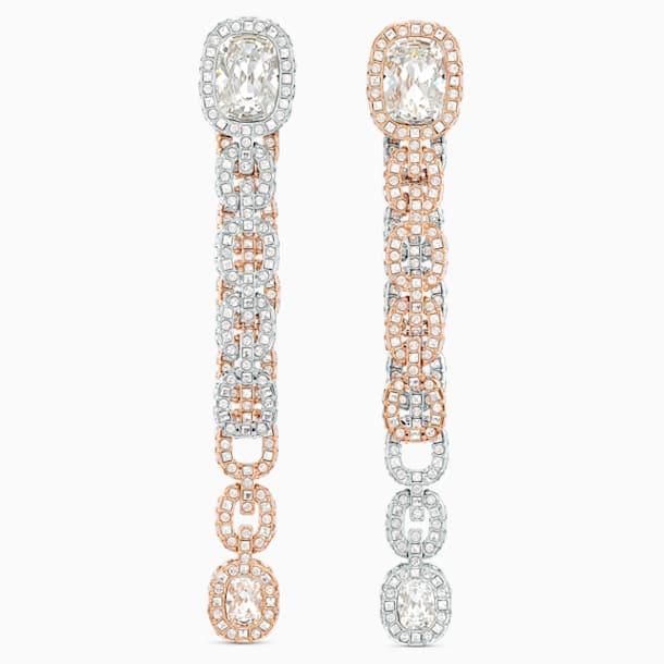 Eternal Pierced Earrings, White, Mixed metal finish - Swarovski, 5536596