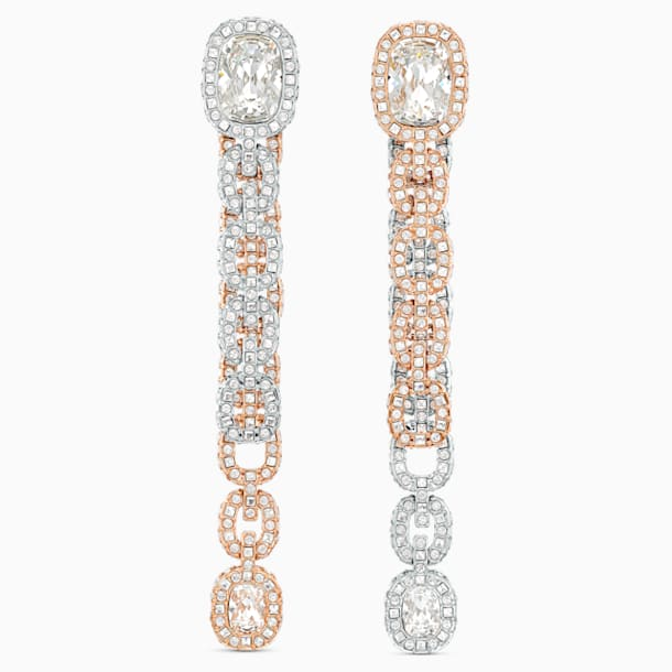 Eternal Pierced Earrings, White, Mixed metal finish - Swarovski, 5536596