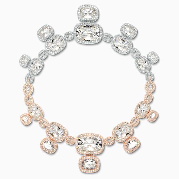 Eternal Necklace, White, Mixed metal finish - Swarovski, 5536602