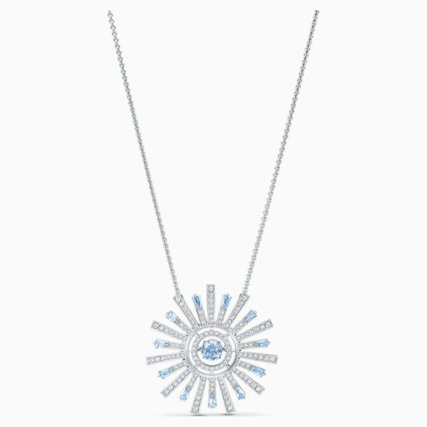 Sunshine Halskette, blau, rhodiniert - Swarovski, 5536731