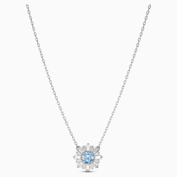 Sunshine Pendant, Blue, Rhodium plated - Swarovski, 5536742