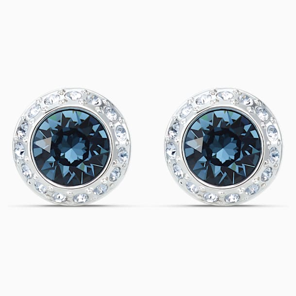 Angelic bedugós fülbevaló, kék, ródium bevonattal - Swarovski, 5536770