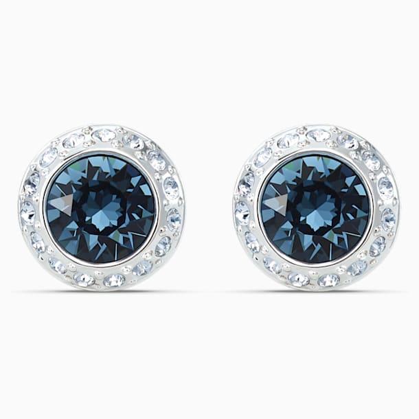Orecchini Stud Angelic, azzurro, placcato rodio - Swarovski, 5536770