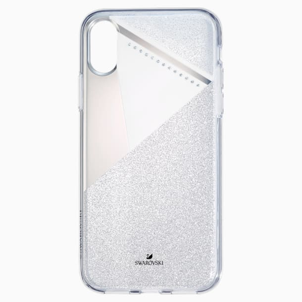 Etui na smartfona Subtle z ramką chroniącą przed uderzeniem, iPhone® XS Max, w odcieniu srebra - Swarovski, 5536848