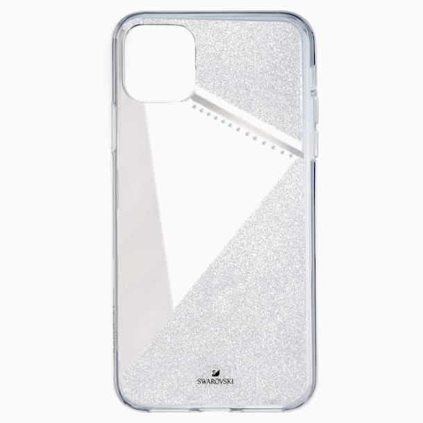 Subtle Smartphone Case with Bumper, iPhone® 11 Pro Max, Silver tone - Swarovski, 5536849