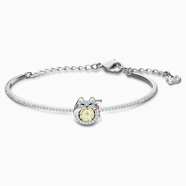 Bracelet-jonc Swarovski Sparkling Dance Cat, multicolore clair, métal rhodié - Swarovski, 5537487