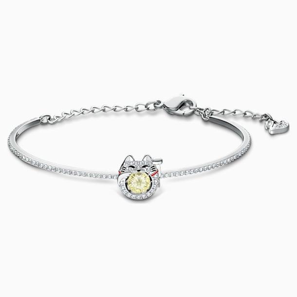 Swarovski Sparkling Dance Cat 手鐲, 淺色漸變, 鍍白金色 - Swarovski, 5537487