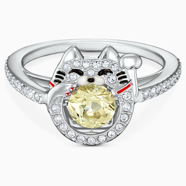 Swarovski Sparkling Dance Cat Ring, Light multi-colored, Rhodium plated - Swarovski, 5538137