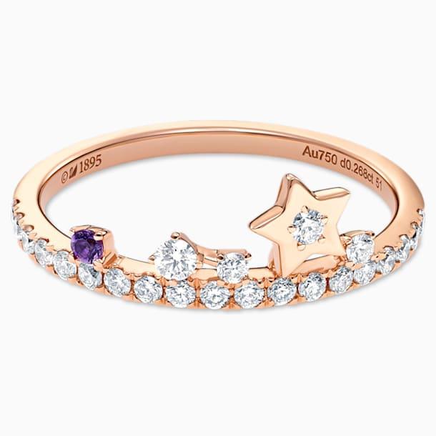 星愿之光18K玫瑰金紫晶钻石戒指 - Swarovski, 5538169