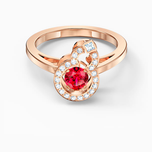 Full Blessing Hulu Ring, Red, Rose-gold tone plated - Swarovski, 5539901