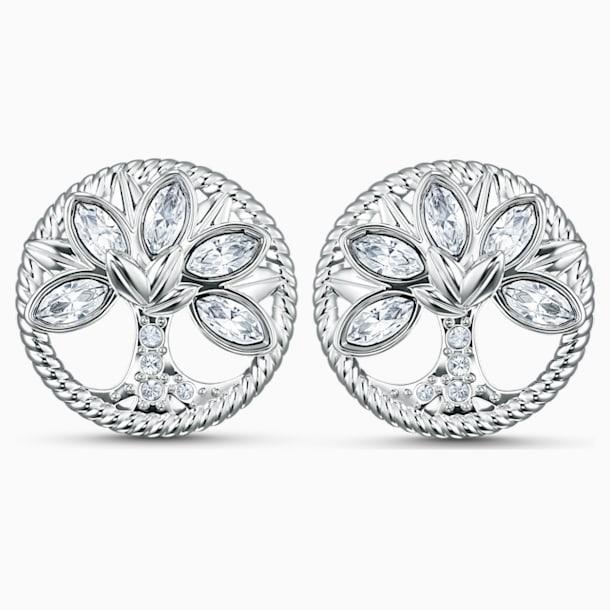 Swarovski Symbolic Tree of Life Stud Pierced Earrings, White, Rhodium plated - Swarovski, 5540301
