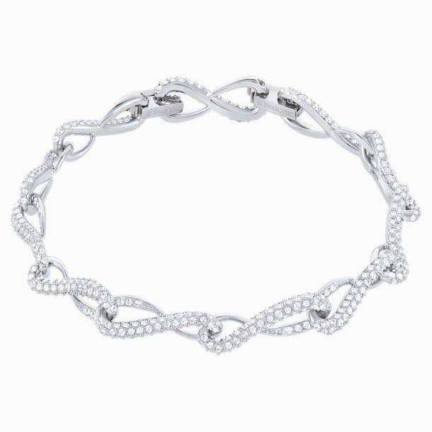 Eleanor Bracelet, White, Rhodium plated - Swarovski, 5540498
