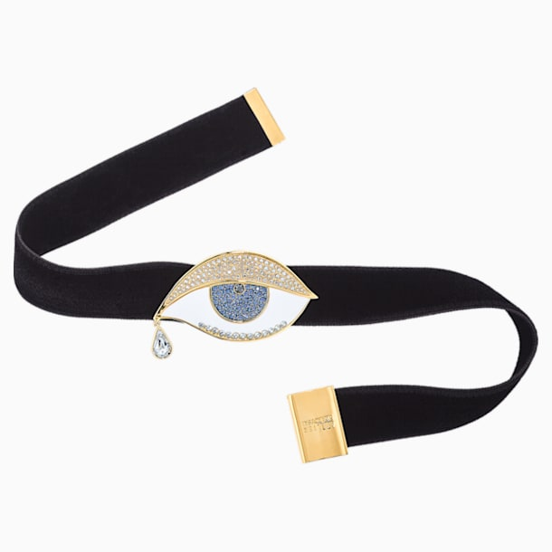 Surreal Dream Choker, Eye, Black, Gold-tone plated - Swarovski, 5540644