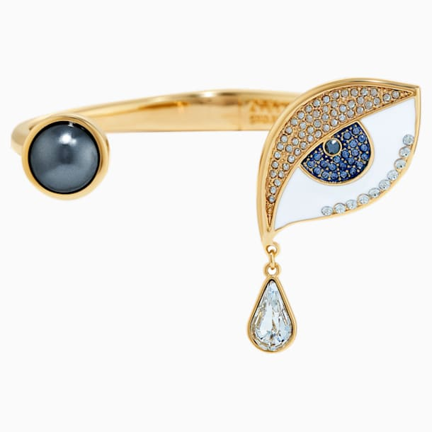 Surreal Dream Cuff, Eye, Blue, Gold-tone plated - Swarovski, 5540646