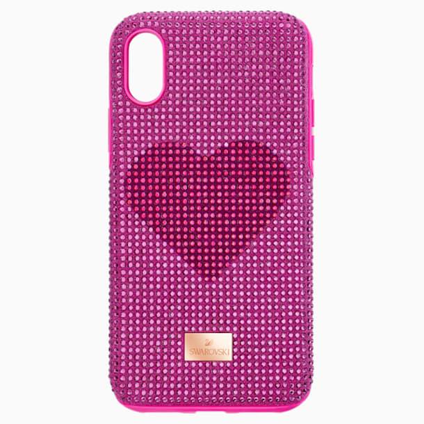 Coque rigide pour smartphone avec cadre amortisseur Crystalgram Heart, iPhone® XS Max, rose - Swarovski, 5540720