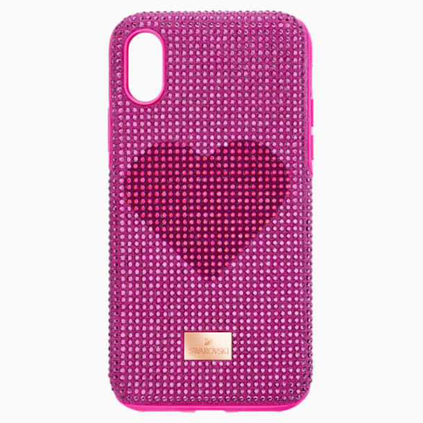 Crystalgram Heart Smartphone Case with Bumper, iPhone® XS Max, Pink - Swarovski, 5540720