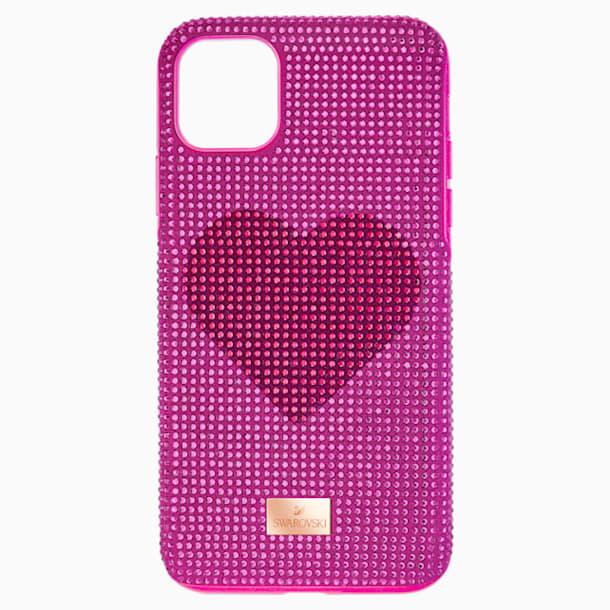 Crystalgram Heart Smartphone Schutzhülle mit Stoßschutz, iPhone® 11 Pro Max, rosa - Swarovski, 5540722