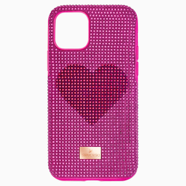 스와로브스키 아이폰 11 프로 케이스 Swarovski Crystalgram Heart Smartphone Case with Bumper, iPhone 11 Pro, Pink