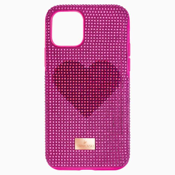 Crystalgram Heart Smartphone Schutzhülle mit Stoßschutz, iPhone® 11 Pro, rosa - Swarovski, 5540723