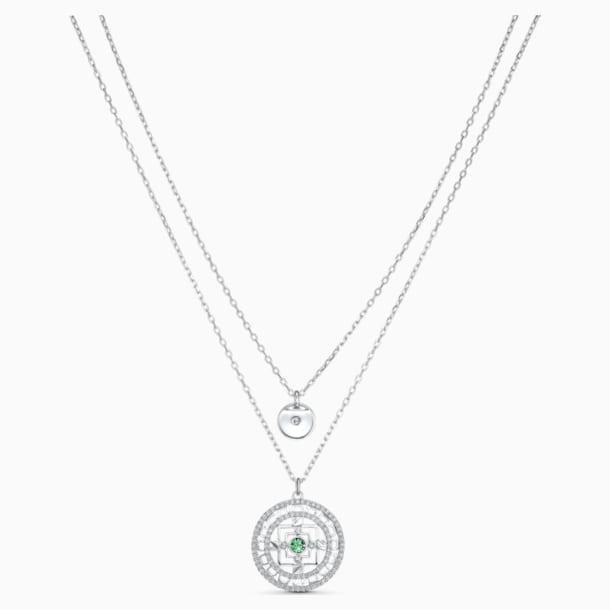 Swarovski Symbolic Mandala Halskette, weiss, rhodiniert - Swarovski, 5541987