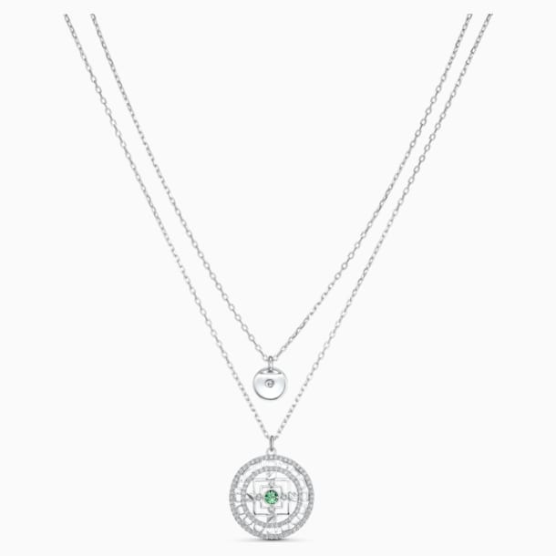 Swarovski Symbolic Mandala Necklace, White, Rhodium plated - Swarovski, 5541987
