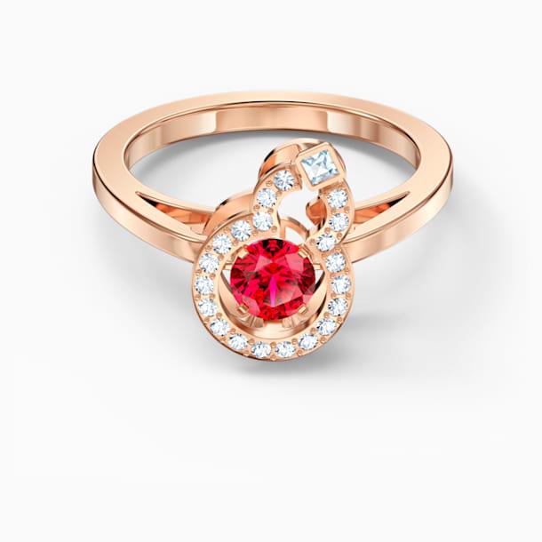 Full Blessing Hulu Ring, Red, Rose-gold tone plated - Swarovski, 5544154