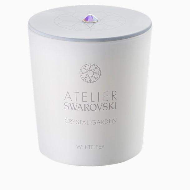 Crystal Garden Candle, White, White Tea - Swarovski, 5547116
