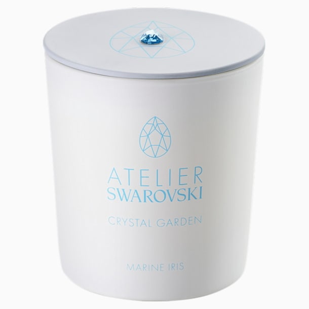 Crystal Garden Candle, Blue, Marine Iris Blue - Swarovski, 5547118