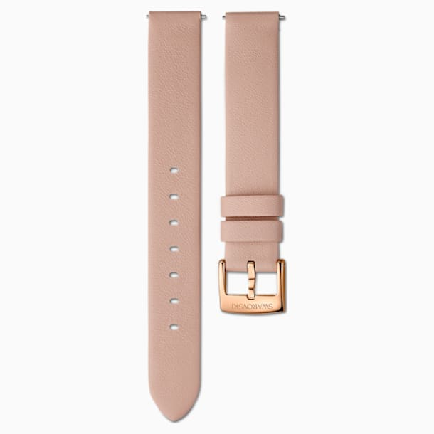 14mm Watch strap, Leather, Pink, Rose-gold tone PVD - Swarovski, 5548138