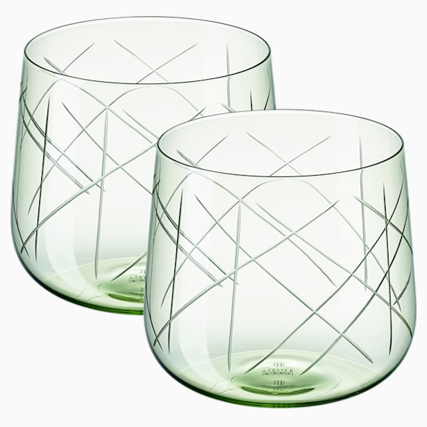Nest Tumbler Set (2), Green - Swarovski, 5548168